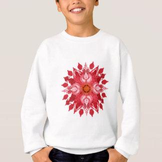 Sweatshirt Mandala rouge du soleil de Paisley