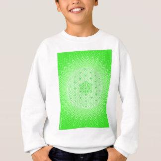 Sweatshirt Mandala sacré psychédélique vert clair de la