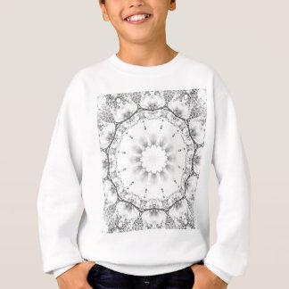 Sweatshirt Mandala-style floral, fleurs gris-clair/gris