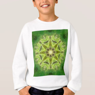 Sweatshirt Mandala vert '' Meadow