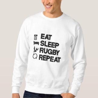 Sweatshirt Mangez le sport de rugby de répétition de rugby de
