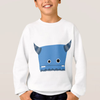 Sweatshirt Monstre à cornes bleu