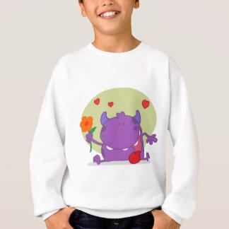 Sweatshirt Monstre avec une fleur