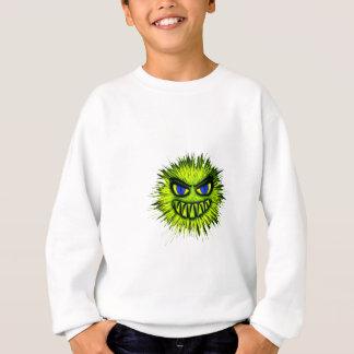 Sweatshirt Monstre de sourire vert