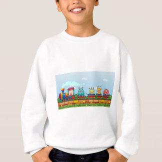 Sweatshirt Monstres et train