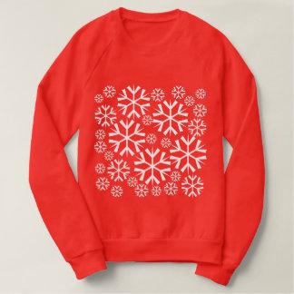Sweatshirt Motif blanc de flocons de neige