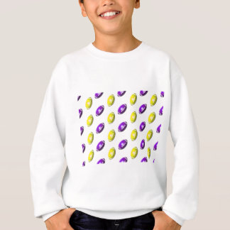 Sweatshirt Motif pourpre et jaune du football