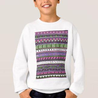 Sweatshirt Motif tribal pourpre et rose