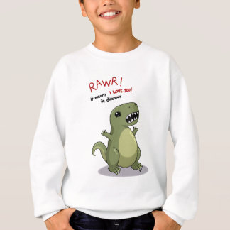 Sweatshirt Moyens de Rawr je t'aime dans le dinosaure
