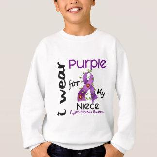 Sweatshirt Mucoviscidose je porte le pourpre pour ma nièce 43