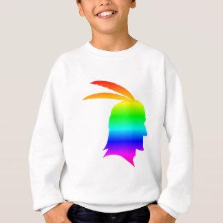 Sweatshirt Natif américain d'arc-en-ciel