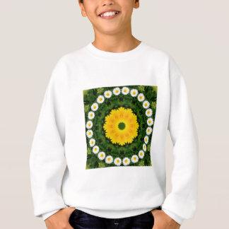 Sweatshirt Nature de marguerites, Fleur-Mandala