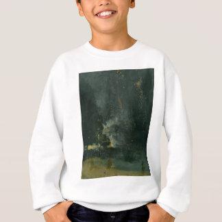 Sweatshirt Nocturne en noir et or, Rocket en baisse