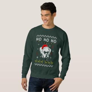 Sweatshirt Noël laid de chien de boxeur Ho Ho Ho