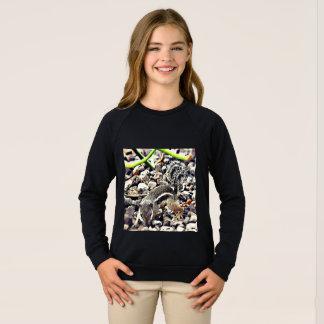 Sweatshirt noir raglan d'habillement américain de