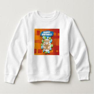 Sweatshirt Nounours de joyeux anniversaire d'illustration