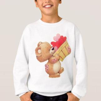 Sweatshirt Nounours et un panier des coeurs