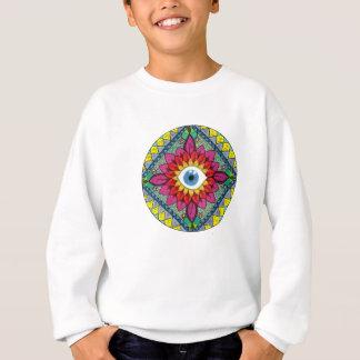 Sweatshirt Oeil coloré de mandala de mosaïque de Horus