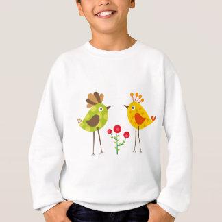 Sweatshirt oiseau 2 de polkadot