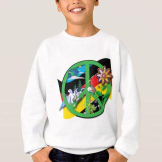 Sweatshirt Paix Allemagne de planète