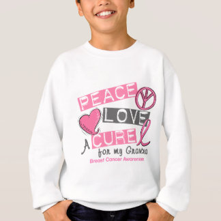 Sweatshirt PAIX de cancer du sein, AMOUR, un TRAITEMENT 1