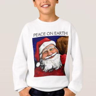 Sweatshirt Paix de Père Noël sur la jeunesse de la terre