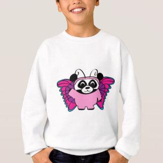 Sweatshirt Panda dans le costume rose de papillon