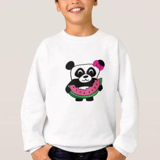 Sweatshirt Panda de fille avec la tranche de pastèque