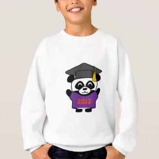 Sweatshirt Panda de garçon pourpre et diplômé 2012 d'orange