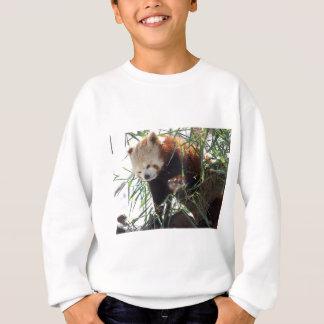 Sweatshirt Panda rouge