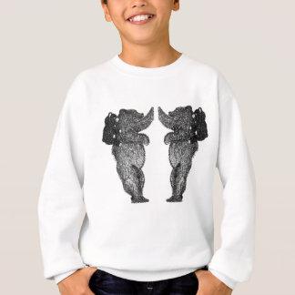 Sweatshirt panda sur le parement de dos d'ours noirs