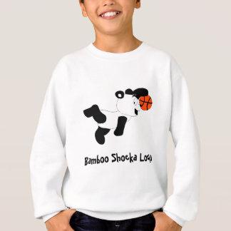 Sweatshirt Panda trempant de claquement de bande dessinée