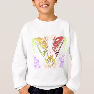 Sweatshirt Papillon avec des fleurs