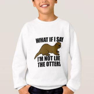 Sweatshirt Pas comme les loutres