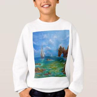 Sweatshirt Paysage marin de bateau à voile