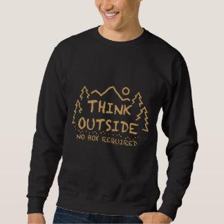 Sweatshirt Pensez dehors, aucune boîte requise