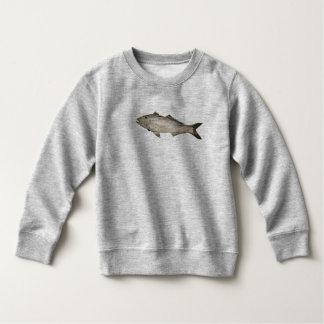 Sweatshirt Photo en bois de poissons