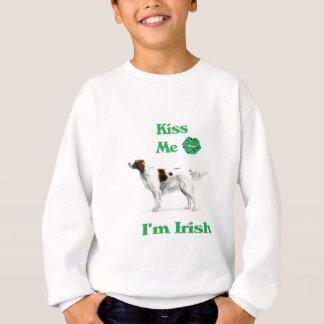 Sweatshirt Poseur-Baiser rouge et blanc je je suis irlandais