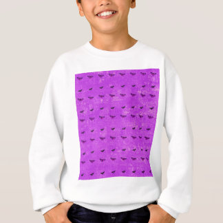 Sweatshirt Pourpre d'impression de papillon