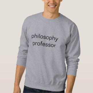 Sweatshirt professeur de philosophie (sweatshirt gris)