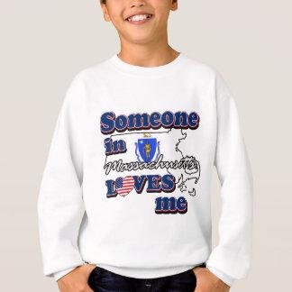 Sweatshirt Quelqu'un dans le Massachusetts m'aime