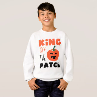 Sweatshirt Roi du garçon déplaisant de citrouille de