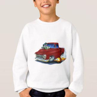 Sweatshirt Rouge foncé 1957 de collecte de Chevy