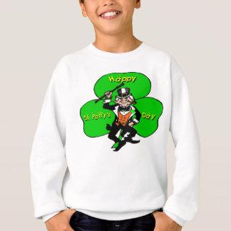 Sweatshirt Shamrock de lutin de jour de la St Patrick