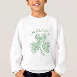 Sweatshirt Shamrock irlandais affligé