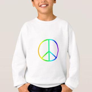 Sweatshirt Signe de paix d'arc-en-ciel
