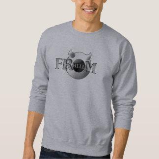 Sweatshirt Sweat-shirt de base pour homme FRHELLM, gris