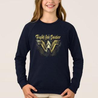Sweatshirt Symbole balayé d'or de femme de merveille