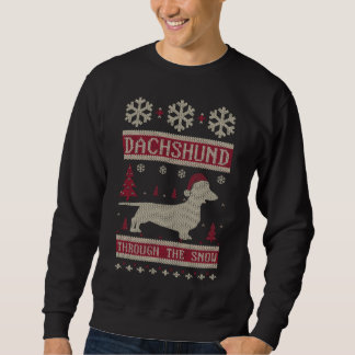 Sweatshirt Teckel par la neige