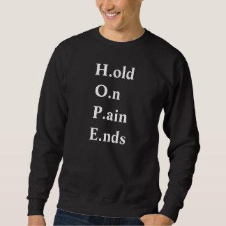 Sweatshirt tenez sur le swetaer d'extrémités de douleur